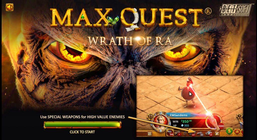 Слот Max Quest: Wrath of Ra